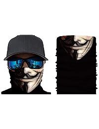Happy Rocker Bandana Tube Face Mask Shield Anonymous Headband