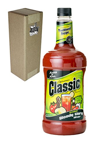 Master of Mixes Classic Bloody Mary Drink Mix, Ready to Use, 1.75 Liter Bottle (59.2 Fl Oz), Individually - Bloody Mask Mary