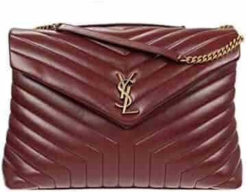 1c88b2484 Saint Laurent Loulou Monogram YSL Large V-Flap Chain Shoulder Bag - Lt.  Bronze