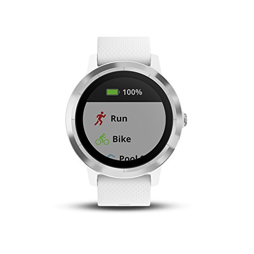 Garmin 010-01769-21 Vivoactive 3, GPS Smartwatch with Contactless Payments and Built-in Sports Apps, White/Silver 2