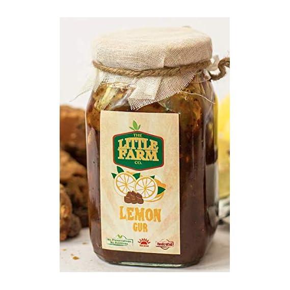 The Little Farm Co- Lemon Jaggery Pickle/ Nimbu Gur Ka Achar 400 gm - Homemade, Farm Fresh, Preservative Free, Gourmet Foods & Traditional Taste