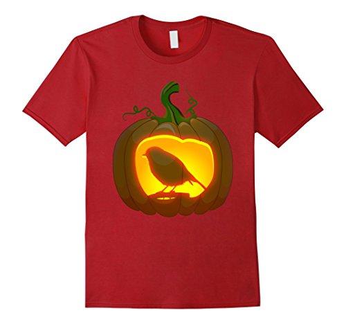 Mens robin Bird Halloween shirt Large Cranberry
