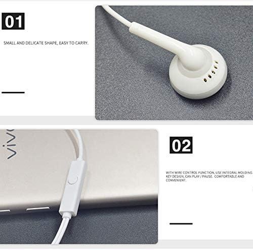 Silverdewi Auricolari per telefoni cellulari Tipo di Auricolari Android Universal Wire Control Earphones Sport Tappi per Le Orecchie-Bianco