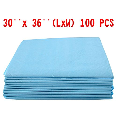 100 PCS 30'' x 36'' Puppy Pet Pads Dog Cat Wee Pee Piddle Pad training underpads by training pads