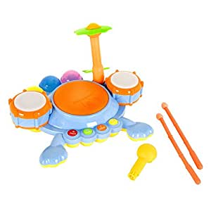 Amazon.com: Junior Fun Beats Musical Drum Set for Baby: Toys & Games