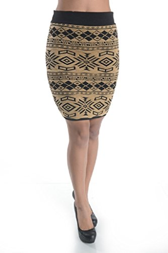 I Love S&S Inc Gold Foil Embroidered Mini Skirt -