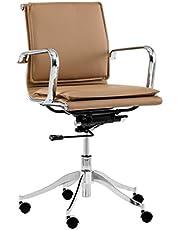 Sunpan Modern 102989 Morgan Full Back Office Chair, Tan