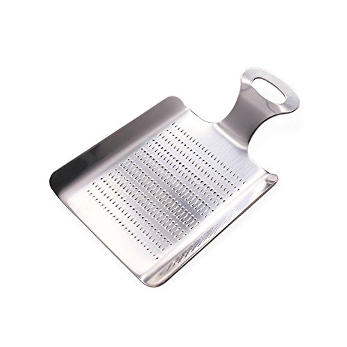 Ginger Grater, Newness Stainless Steel Shovel-shaped Food Grater for Ginger, Mini Ginger (Ginger Stainless Steel Grater)