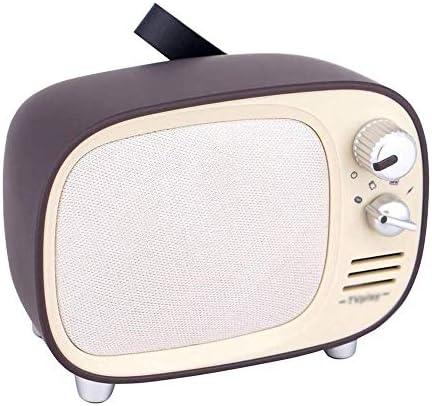 Radio Retro TV Bluetooth del Estilo/Tarjeta sin pérdida, Altavoces portátiles, Entrada de Audio (Dark Brown): Amazon.es: Electrónica