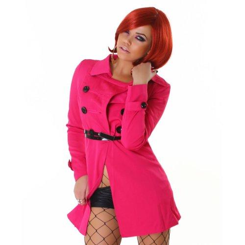 Ceinture Trench coat La 3d109 Avec Manteau Le Pink Court tYxqUwnP