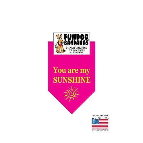 MINI BANDANA - You Are My Sunshine for small dogs less than 20 lbs - Hot - The Perks Sun