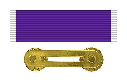 Military Medal Heart (Vanguard Uniform Accessories – Purple Heart Medal Ribbon & Military Medal Mounting Bar - Official Ribbons for Medals)