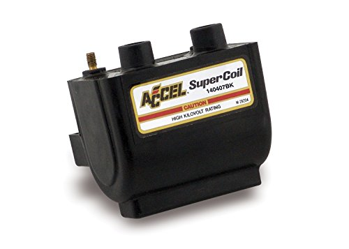 ACCEL (ACC 140407BK) Dual Fire Black Super Coil (Harley Davidson Dyna Super Glide For Sale)
