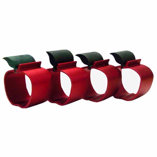 Reston Lloyd Napkin Ring Set of 4, Apple