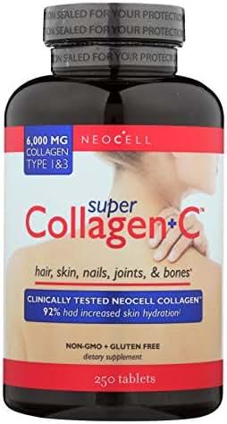 Neocell Laboratories Super Collagen Plus C, 0.4 Pound, 250 Tablets