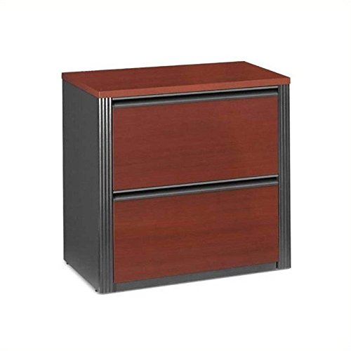 BESTAR Prestige + Lateral File Drawer, 30'', Bordeaux/Graphite by Bestar