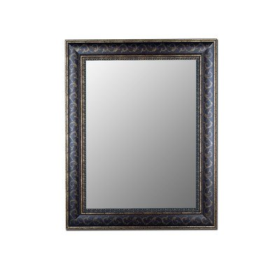 Hitchcock Butterfield Company Cameo Collection Mirror in Bordeaux Walnut Gold Scroll Size: 47