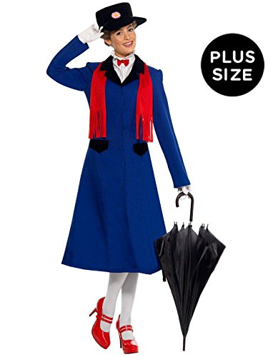 Mary Poppins Plus Adult Costume - Plus
