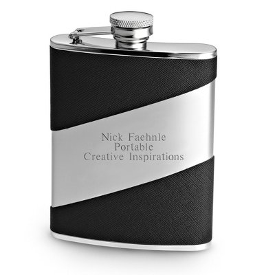 Things Remembered Personalized Diagonal 6 oz. Flask, Engraved Flask with Engraving Included