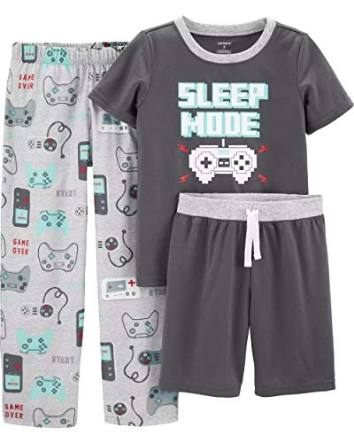 Carter's Boys' 3 Pc Poly 363g035 (4, Grey/Heather/Video Game)