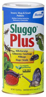Monterey Sluggo Plus Insect, Slug & Snail Pellets For Organic Gardening - 1 lb Box #LG6575