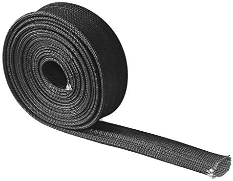 HEAT HOSE FIBERGLASS WRAP SHIELD SLEEVE WIRE FUEL LINE HEAT SHIELD ROLL HIGH TEMP BLACK COLOUR ADJUSTABLE 10FT-13MM(1/2″) FOR CAR WIRE LOOM PROTECTION