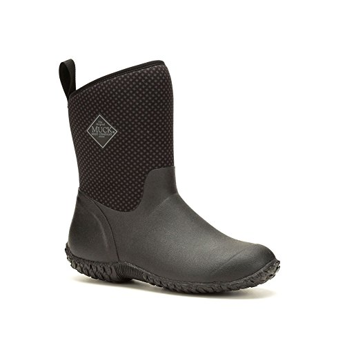 height Black Ll Women's Boots Mid Print Garden Rose Rubber Muckster Muck Boot Charcoal WcqOSc6