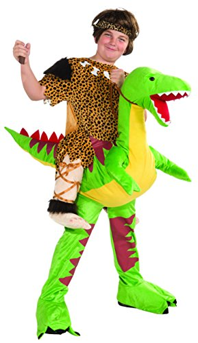 [Forum Novelties Children's Dino and Cave Boy Rider Costume] (Caveman Girl Halloween Costume)