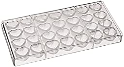 Fat Daddio\'s Dimpled Heart Polycarbonate Candy Mold 28-Piece Tray