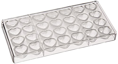 UPC 811657046330, Fat Daddio's Dimpled Heart Polycarbonate Candy Mold 28-Piece Tray