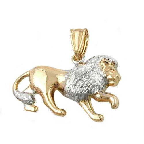 Pendant, Löwe matt-glänzend, 9Kt GOLD