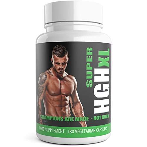 Super HGH XL 180 Vegetarian Capsules 3 Month Supply UK Manufactured from...
