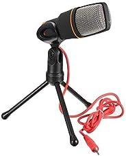 Microfone Com Fio Condensador Sf-666 Estudio Pc Cabo Xlr