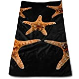 Large Bath Towels, Starfish Sea Shell Picture Multi-Purpose Microfiber Towel Ultra Compact Super