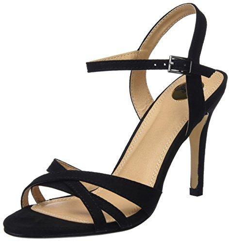 312703 Con Buffalo Imi 01 Suede Donna Sandali Cinturino Alla black Nero Caviglia ASHqdHx6