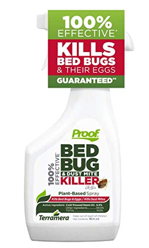 Proof Bed Bug & Dust Mite Killer for Home - 100% Effective, Plant-Based Bug Spray, Fast Acting with Extended Protection for up to 2 Weeks - Kills Pesticide Resistant Bed Bugs, dust Mites
