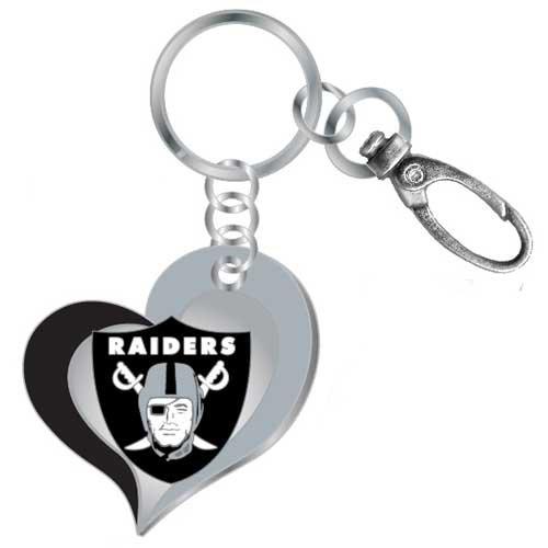 【T-ポイント5倍】 NFL B01DN7XU26 Oakland Raidersチームカラースワールハートキーチェーン NFL B01DN7XU26, かねき質店:3073d08f --- arianechie.dominiotemporario.com
