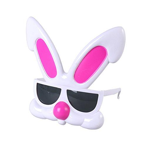 BESTOYARD Bunny Sunglasses Party Glasses Bunny Ear Easter Eyeglasses Cartoon Sunglasses Eyeglasses for Easter Birthday Christmas Halloween Costume Party - Bunny Easter Sunglasses