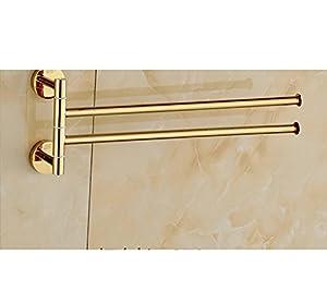 on sale European solid brass Towel rack/Towel rack antique activities/Golden shower Towel Bar-I