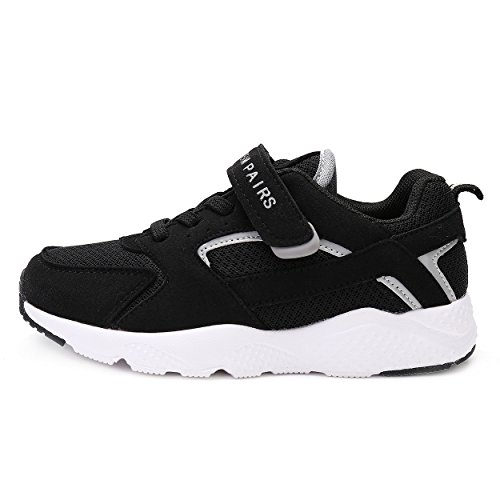 DREAM PAIRS Toddler 160425-K Black Lt.Grey Athletic Running Shoes Sneakers - 6 M US (Toddler Athletic Shoe)