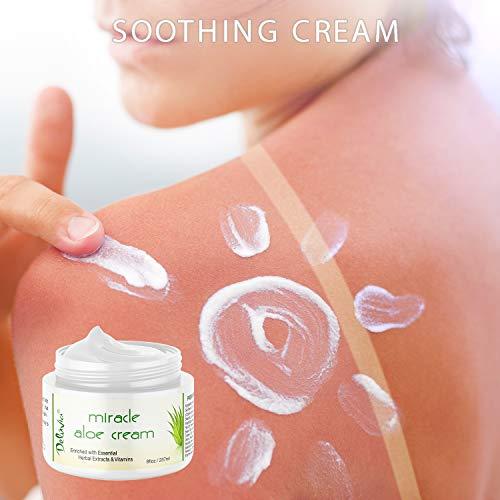 Miracle Aloe Vera Moisturizing Cream Body Moisturizer Day Night Hydrating Skin Care for Dry, Aging, Sensitive Skin, for Men 2