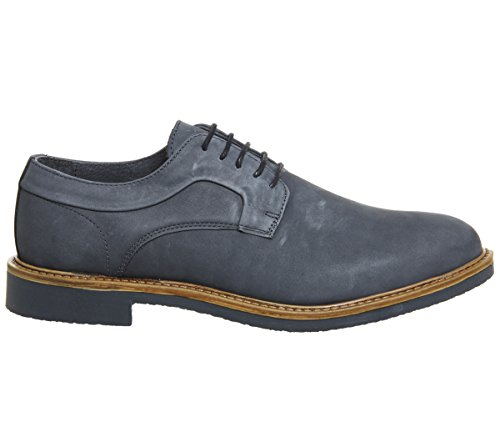 Ask The Missus Giant Chunky Derby Shoes Navy Nubuck