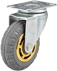 """Rodízios giratórios de borracha resistentes de 7,6 cm/4"""" com freios, transporte industrial sem roda de ru"""