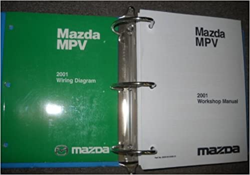 2001 mazda mpv service shop repair manual set oem (service manual, and the wiring  diagrams manual ): mazda: amazon com: books