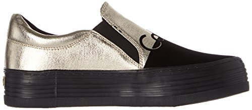 Zinah black flocking Canvas Chaussons Calvin gold Klein Metal Multicolore Femme qwzCz57xO