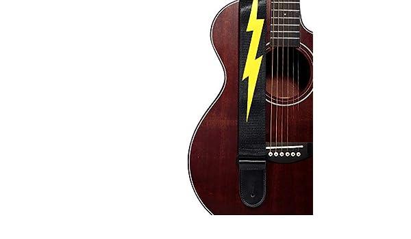 Correa de Guitarra Patrón rayo diseño adecuado de la guitarra ...
