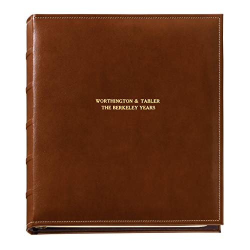 Exposures Personalized Charter Oversized Extra-Capacity Album, Cognac, 1 Line of Personalization
