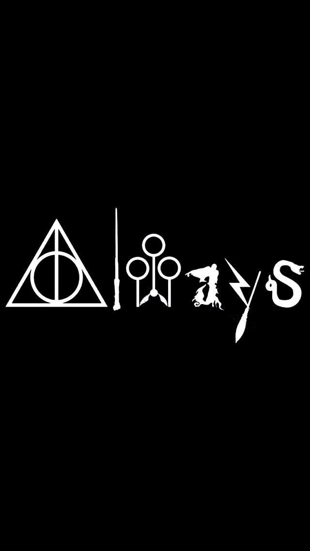 Always Harry Potter White Vinyl Carlaptopwindowwall Decal
