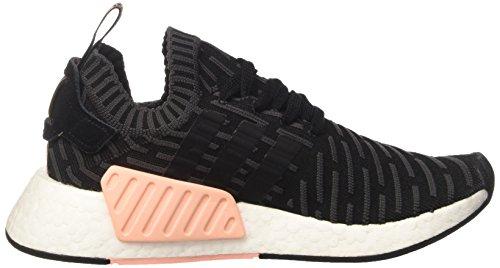 adidas NMD_r2 Primeknit, Sneaker Basses Femme Noir (Utility Black F16/core Black/ftwr White)