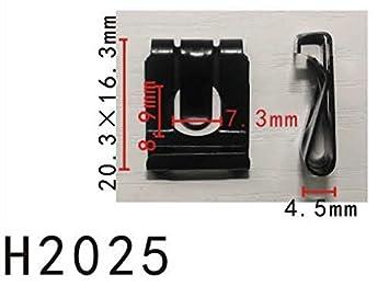 Retenedor de clip en U del pedal del embrague del panel del cuerpo (modelo PF-H2025) (paquete de 10): Amazon.es: Coche y moto